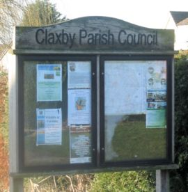 A picture of the village noticeboard
